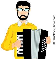 accordeon, ember