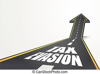 adót kiszab, út, kitérés