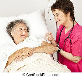 ad, kórház, befecskendezés, ápoló