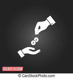 ad pénz, felfogó, kézbesít
