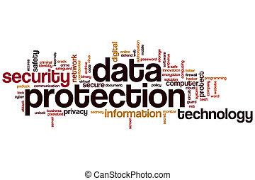 adatok protection, szó, felhő