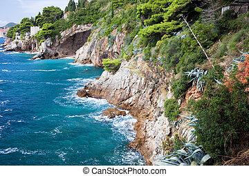 adriai, partvonal, tenger