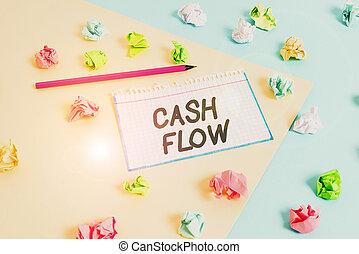 affecting, fogalom, készpénz, írás, szöveg, hajópapírok, színezett, figyelmeztetés, üres, flow., pénz, ügy blue, sárga, ki, gyűrött, cseppfolyósság, mozgalom, szó, háttér, clothespin.