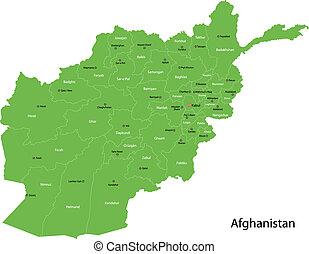 afganisztán, zöld térkép