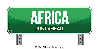 afrika, forgalom, út cégtábla