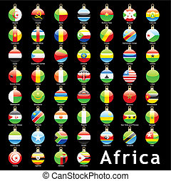afrikai, karácsony, zászlók, gumók