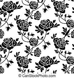 agancsrózsák, fehér, fekete