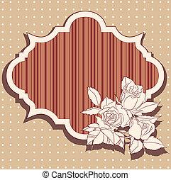 agancsrózsák, keret, retro