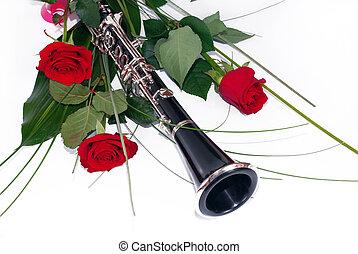 agancsrózsák, klarinét, piros
