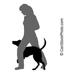 agilitás, futás, command:, kutya, (obedience):, át