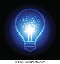 agyonüt, belső, digitális, lámpa, elektromos