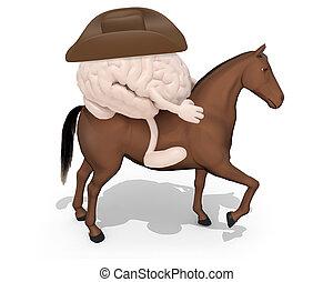 agyonüt, ló, felül, emberi, őt