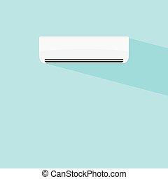 airconditioner, vektor, tervezés, ikon, ábra