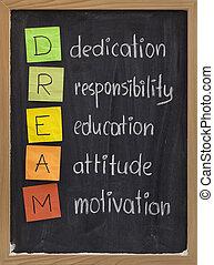 ajánlás, helyzet, oktatás, felelősség, motiváció
