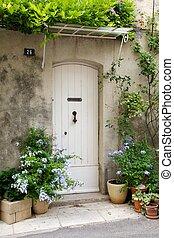 ajtó, elülső, francia