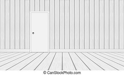 ajtó, szoba, erdő, minimalistic, fehér, 3