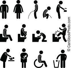 akadály, öltözék, fürdőszoba, terhes