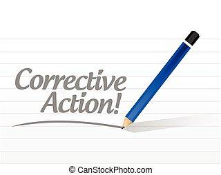 akció, üzenet, javító, ábra