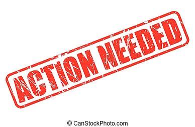 akció, needed, bélyeg, piros, szöveg