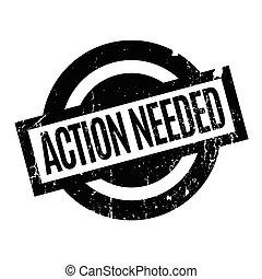 akció, needed, gumi bélyegző