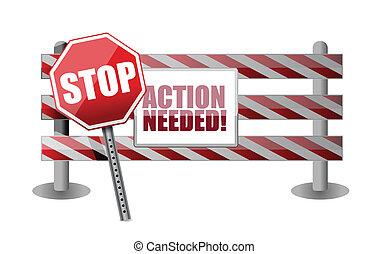 akció, needed, tervezés, akadály, ábra