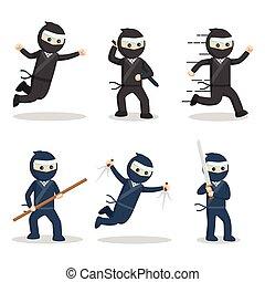 akció, ninja, állhatatos