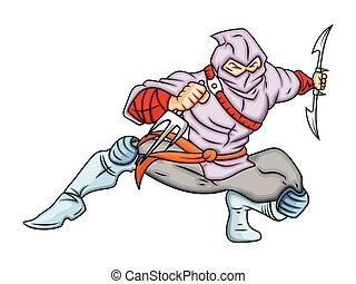 akció, ninja, karikatúra