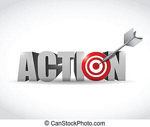 akció, tervezés, céltábla, ábra