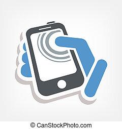 akció, touchscreen, ikon