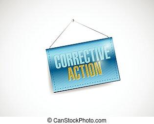akció, transzparens, javító, ábra, függő