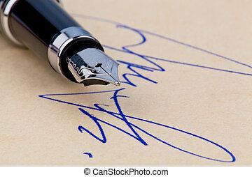 akol, szökőkút, aláírás