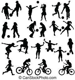 aktivál, csoport, gyerekek