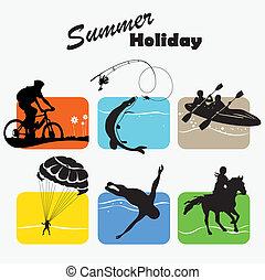aktivál, nyár holiday, állhatatos, maradék