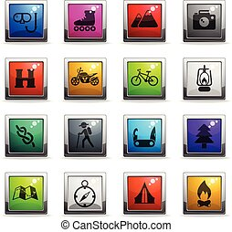 aktivál, pihenés, állhatatos, ikon