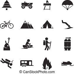 aktivál, pihenés, ikonok