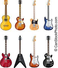 akusztikai, elektromos gitár