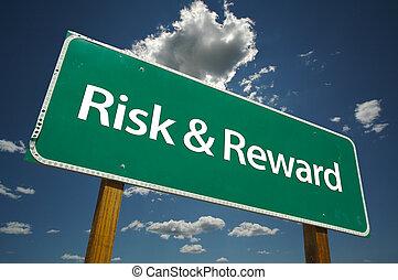 aláír, ellenszolgáltatás, út, kockáztat, &