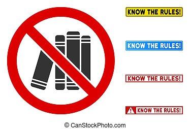 aláír, keret, lakás, derékszögű, vektor, könyv, nem, könyvtár, szavak