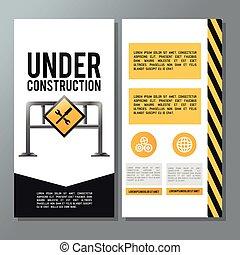 aláír, szerkesztés, út, körülbelül, ábra, alatt, lakás, design.