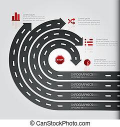 &, aláír, utca, tervezés, sablon, infographics