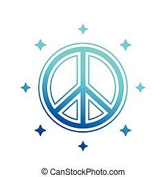aláír, vektor, béke