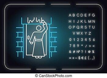 aláír, zsidó húsvét, slavery., izzó, sztori, neon, icon., ábra, hebrews, kivonulás, plagues., abc, fény, narrative., symbols., könyv, bibliai, vektor, ősi, tíz, elszigetelt, számok, egyiptom, biblia