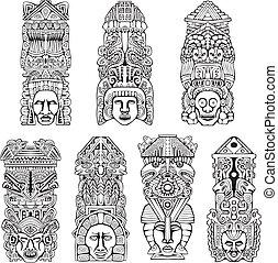 aládúcol, aztec, totem