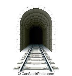 alagút, belépés, vasút