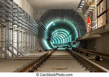 alagút, nagy, föld alatti, adottság