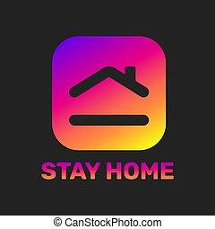 alakít, szív, szeret, épület, megállít, jelkép, eps, vektor, 10., törődik, illustration., otthon, sticker.