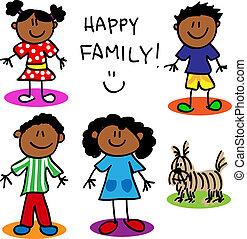 alak, fekete, bot, család