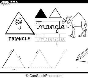 alakzat, geometriai, karikatúra, alapvető