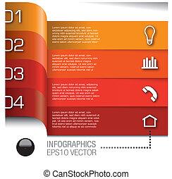 alapismeretek, állhatatos, vektor, infographics