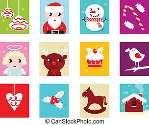 alapismeretek, 2, elszigetelt, naptár, -, karácsony, megérkezés, fehér
